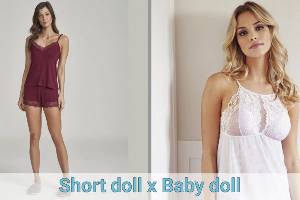 Short doll x Baby doll – você sabe a diferença?